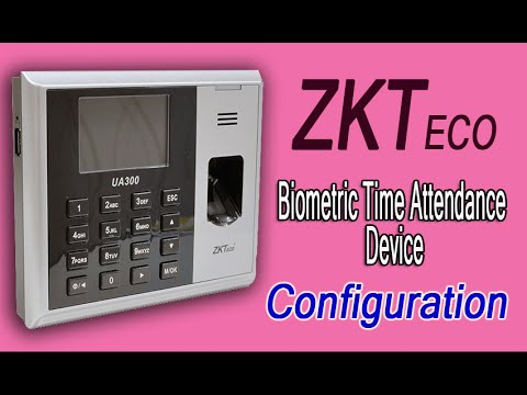 How to configure ZKTEco Biometric Attendance Device with ZKTime Software
