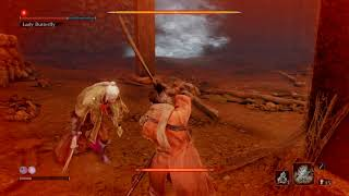 Sekiro - Lady Butterfly in about 2 minutes without the dodge strategy, no resurrections