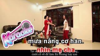 Một Đời Vì Chữ Hiếu - Karaoke - Diệp Hoài Ngọc - Minh Minh