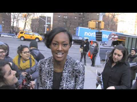Nichole Galicia At Fashion Week Lincoln Center In NYC