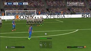 PES 2017 | Barcelona vs Juventus | Free Kick Goals Neymar | UEFA Champions League