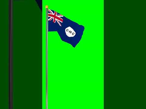 Green Screen - Flag of The British Crown Colony of Cyprus
