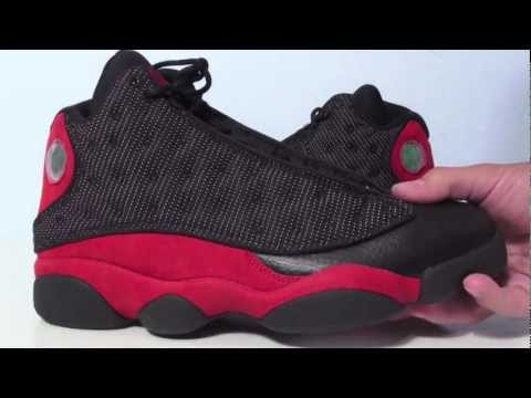 finest selection b1e46 befb3 Air Jordan XIII (13) Bred Black Red 2013 Video Review ...
