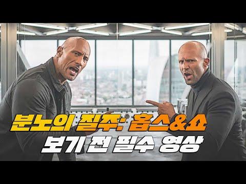 [8분요약] 분노의 질주 시리즈 완벽 정리   분노의 질주 홉스&쇼   10분 영화   드웨인 존슨   제이슨 스타뎀