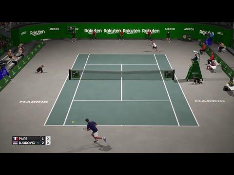 B.Paire vs N.Djokovic   Davis Cup Finals Madrid Live Gameplay