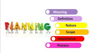 What is Planning, Meaning, Definition by author's, Nature, Scope, Importance and process of planning