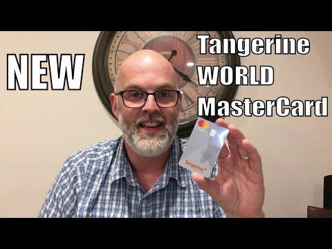 NEW - Tangerine *WORLD* MasterCard