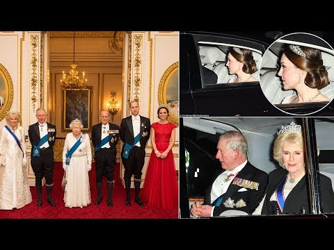 Tiaras at the ready! The royals attend the Queen's Diplomatic Reception
