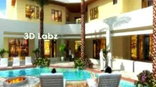 Villa Exterior 3D walk through Animation Saudi Arabia