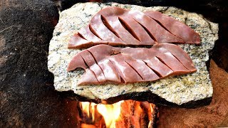 Forest Style Cooking Beef Liver in Indian Village Life | Beef Liver Cooking in Village | Wild Food