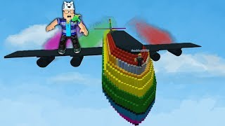 ROBLOX: TRY TO SURVIVE IN THE GIANT COLORFUL AIRPLANE!! -Play Old man