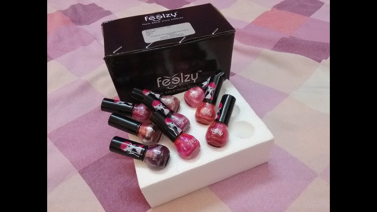Review of Foolzy 12 shades Nail Paint set,Flipkart - YouTube