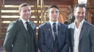 MICHAEL CONLAN, MATT MACKLIN & TODD DuBOEF OFFICIAL PHOTO CALL IN BELFAST