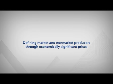 Defining market and nonmarket producers through economically significant prices