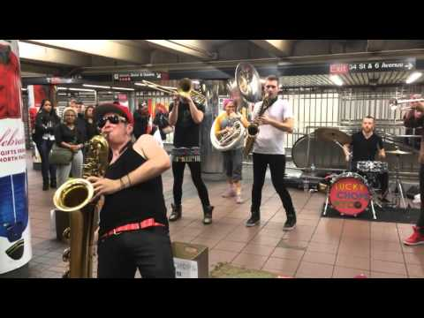 """""""My Girl"""" - Lucky Chops cover @ NYC Subway December 2, 2015"""