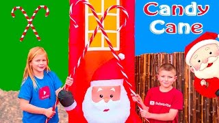 ASSISTANT and BATBOY Christmas Candy Cane Hunt a Holiday Toy  Hunt Video