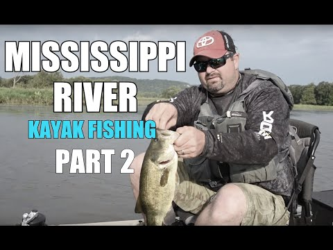 MISSISSIPPI RIVER KAYAK FISHING | PART 2 | La Crosse, Wisconsin