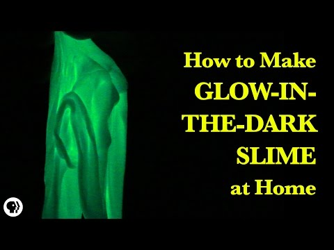 How To Make Glow-In-The-Dark Slime!