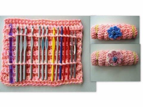 CROCHET CASE how to crochet a holder for crochet hooks YouTube