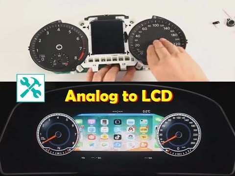 VW / ANALOG To DIGITAL LCD Dashboard CLUSTER Conversion 🛠 📱 🕹📺 📧