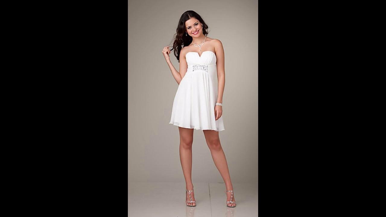 03c98da353 Vestidos de novia civil baratos y bonitos - YouTube