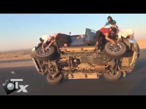 Замена колес во время движения автомобиля