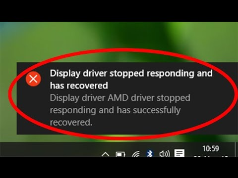 Fix Display driver stopped responding and has recovered error in windows 10