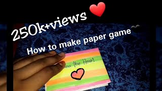How to make paper game