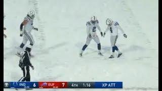Adam Vinatieri Unbelievable Field Goal in Blizzard Colts vs Bills Week 14