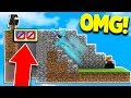 MINECRAFT FAKE STAIRCASE TROLL! (Minecraft SKYWARS Trolling)