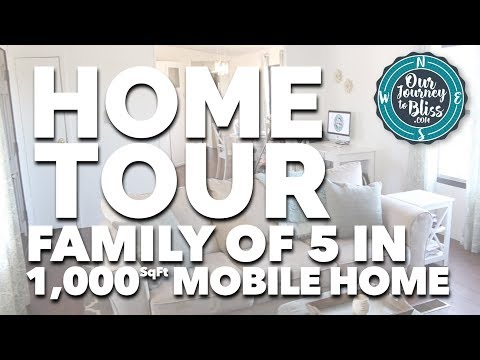 HOME TOUR!!! (Family of 5 in 1,000 sq-ft Mobile Home!)