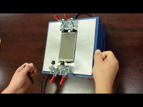 Replacing LG Nexus 4 E960 Digitizer using LCD Separation Machine