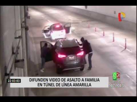 Vía Expresa: difunden vídeo de asalto a familia en túnel de Linea Amarilla