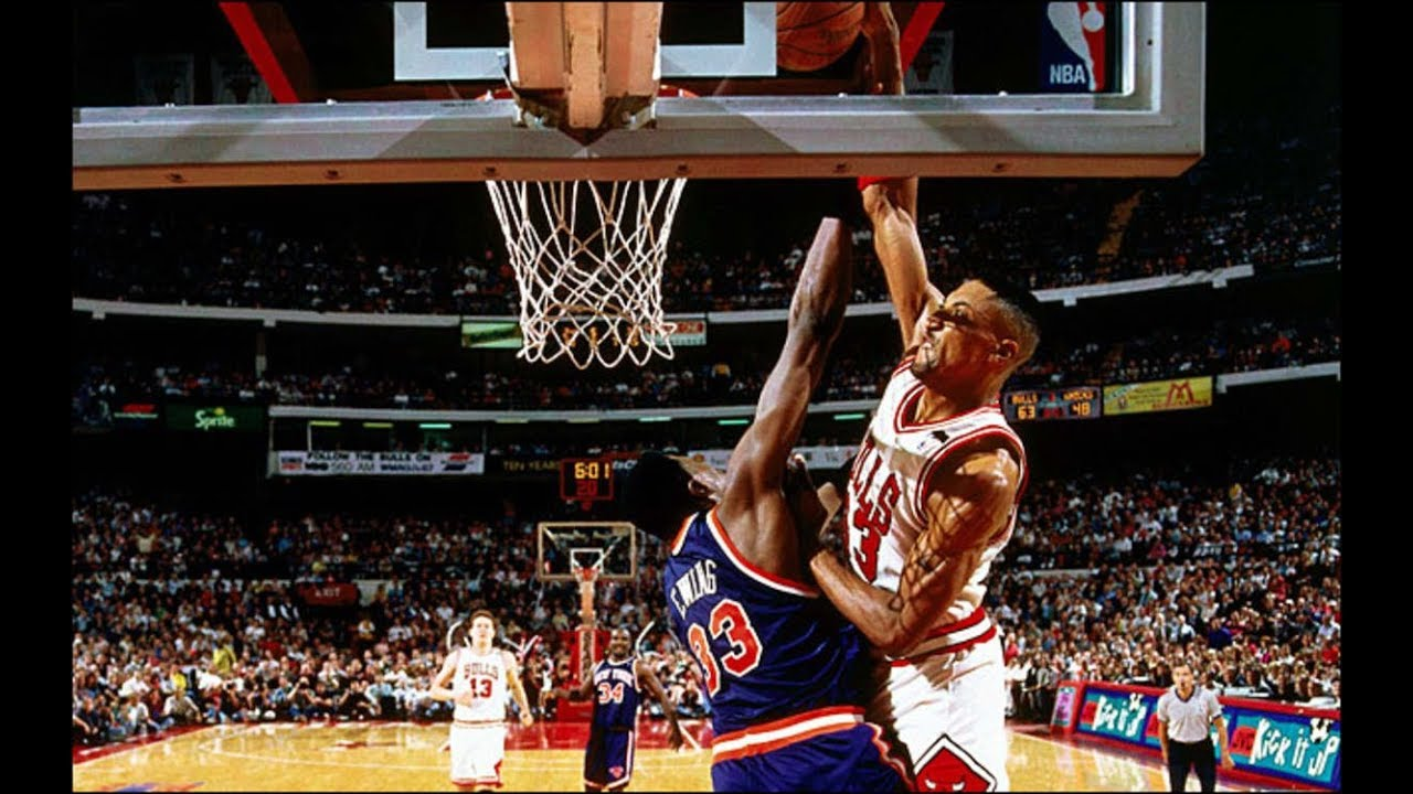 4696aad9 Quick Look back at Pippen Dunk on Ewing 1994 NBA Playoffs - YouTube