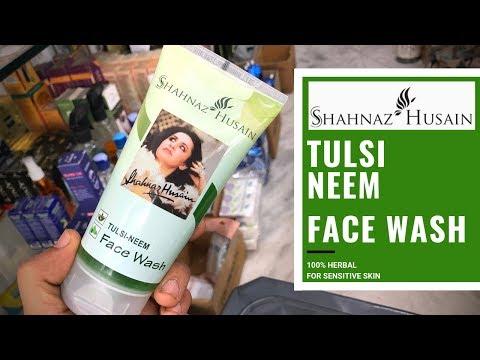 Shahnaz Husain Tulsi Neem Face Wash Review   100% Herbal Face Wash