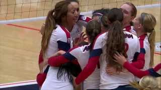 Arizona Volleyball Return Home to Upset No. 21 Oregon- Highlights