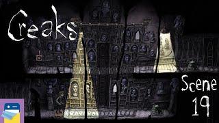 Creaks: Scene 19 Walkthrough + Secret Room + Painting & iOS  Gameplay (by Amanita Design)