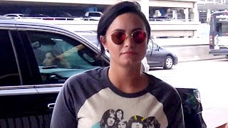 Demi Lovato Looks Upset When Asked About Quitting Social Media