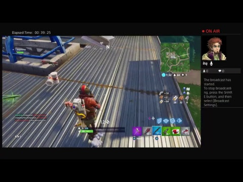 First Time Broadcasting Live FORTNITE!!!