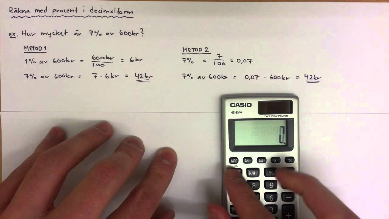hur räknar man ut procent på lön