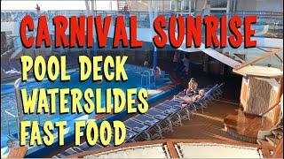 Carnival Sunrise Cruise - Lido/Pool Deck Tour