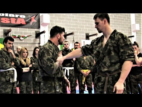 KRAV MAGA TRAINING • How to escape when a BIG Guy grabs you (part 2)