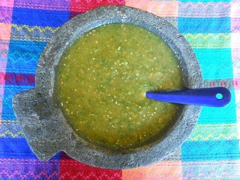 Salsa Verde. Salsa Verde Mexicana de Tomatillo