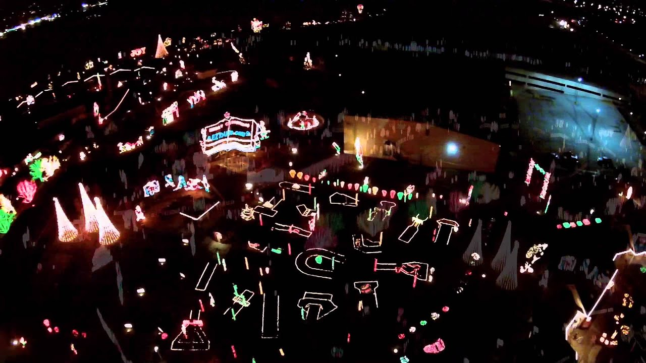 Lakemont Holiday Lights on the Lake (Aerial) - Lakemont Park ...