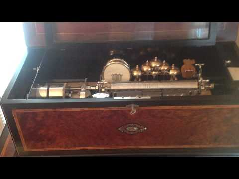 Rita Ford Music Boxes, 6 cylinder Orchestral Music Box with Organ.