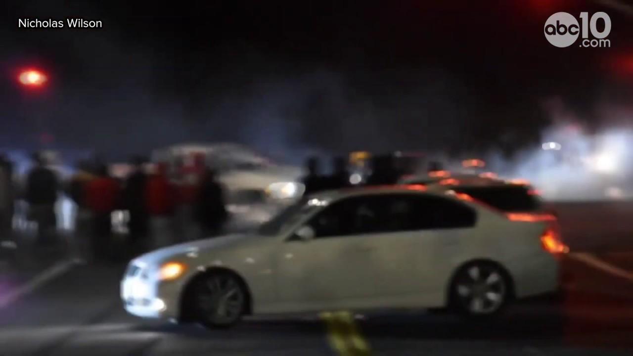 Hundreds watch as 'sideshow' shuts down Fairfield