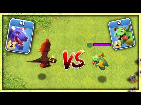 DRAGON vs BABY DRAGON - CLASH OF CLANS |  VERSUS BATTLE | OMG ! WHO WINS? | TROOPS VS TROOPS | COC