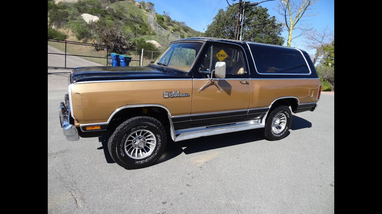 Dodge Ramcharger Royal Se Suv Power Ram Owner