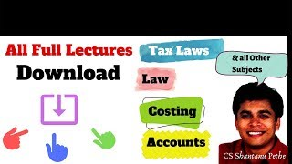 Download All Full Video Lectures from link below