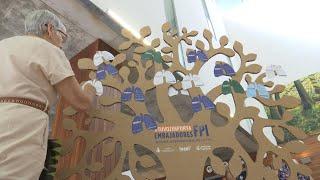 Árbol de los deseos para concienciar sobre la Fibrosis Pulmonar Idiopática